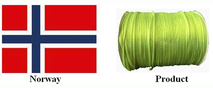 Norway| satin cord| Chinese cord| China cord factory| rattail cord| yongjiaxin