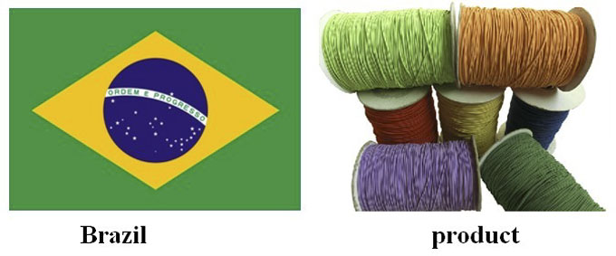 Brazil|elastic cord| ropes| elastic rope| string| rubber| yongjiaxin