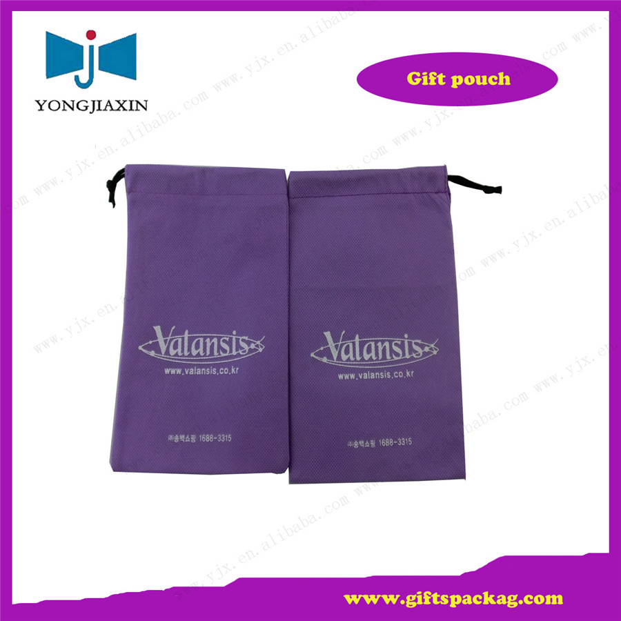 non-woven eco-friendly bag,non-woven purple pouch produce