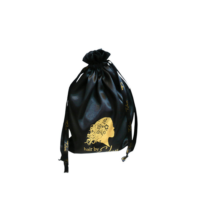 satin bag with logo