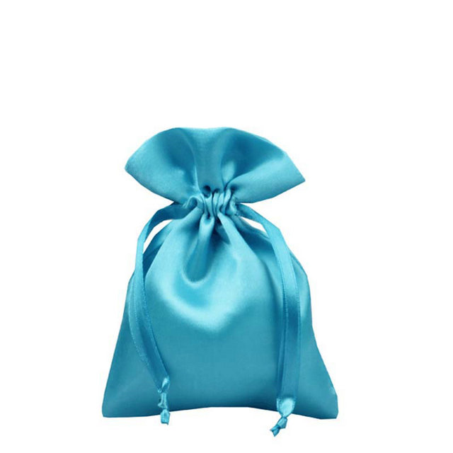 custom satin drawstring bags