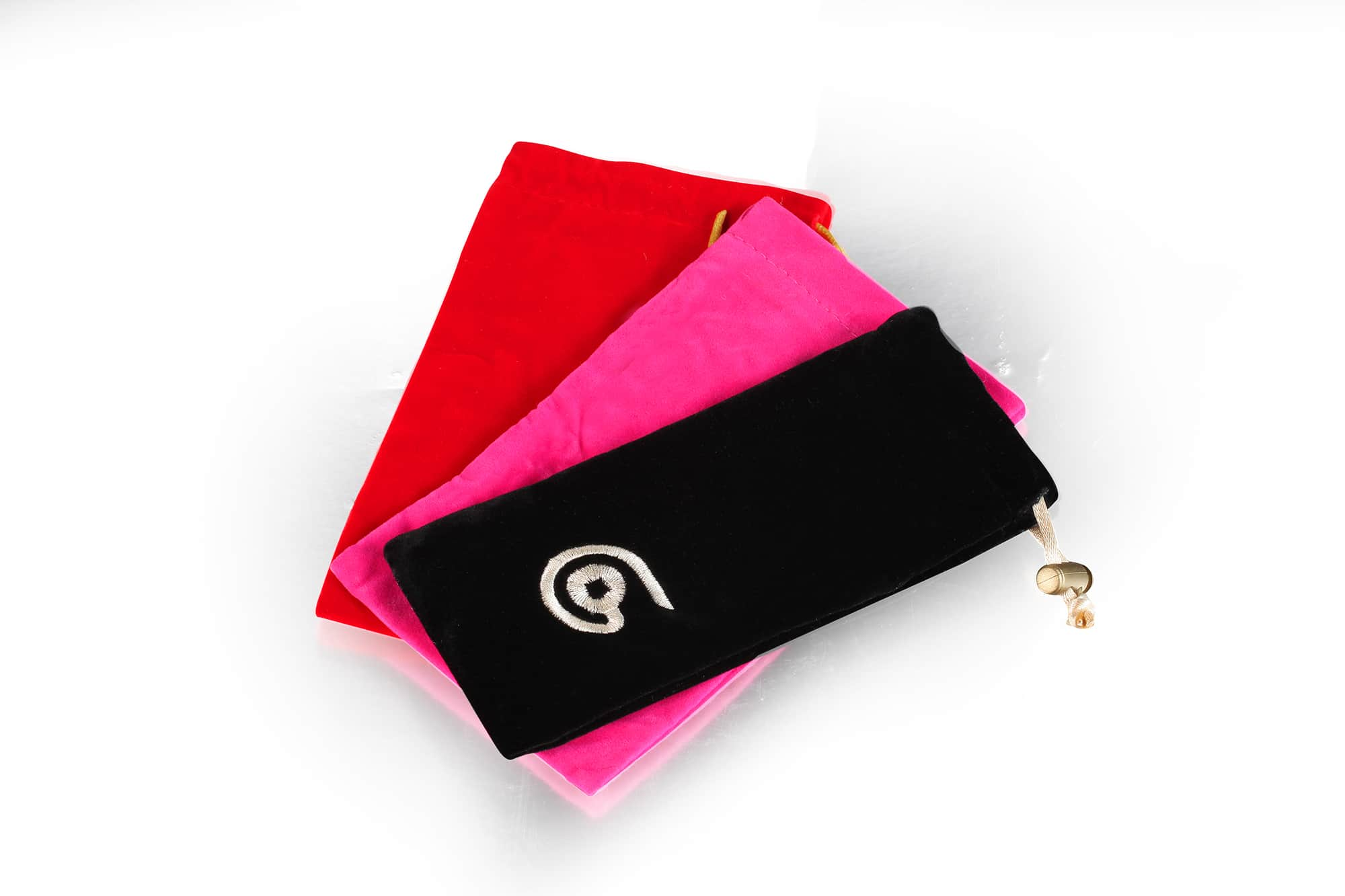 Fashionable velvet pen pouch with stopper