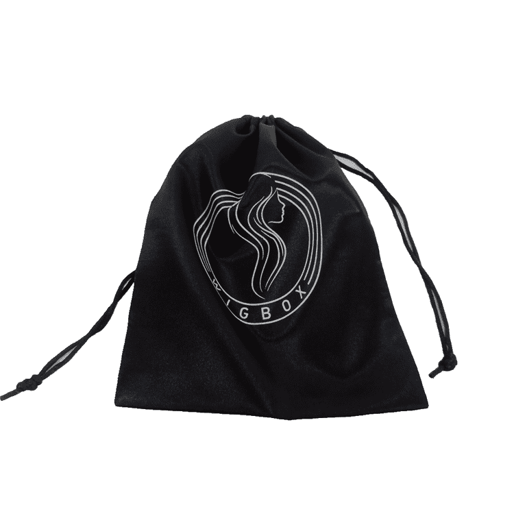 Wholesale custom silk black satin bag