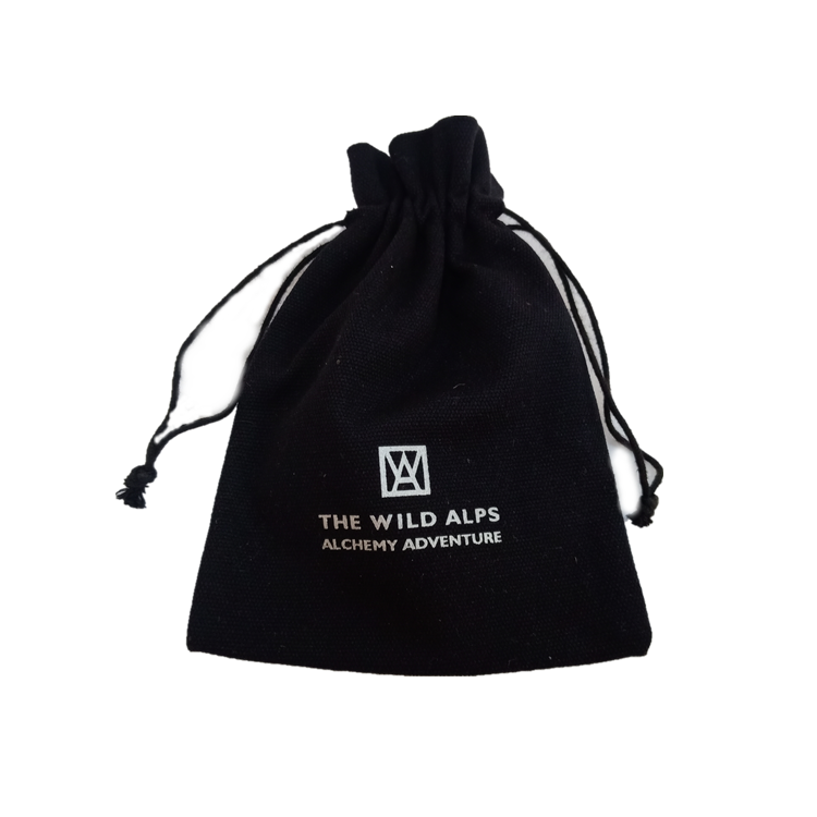 customized black small cotton bag