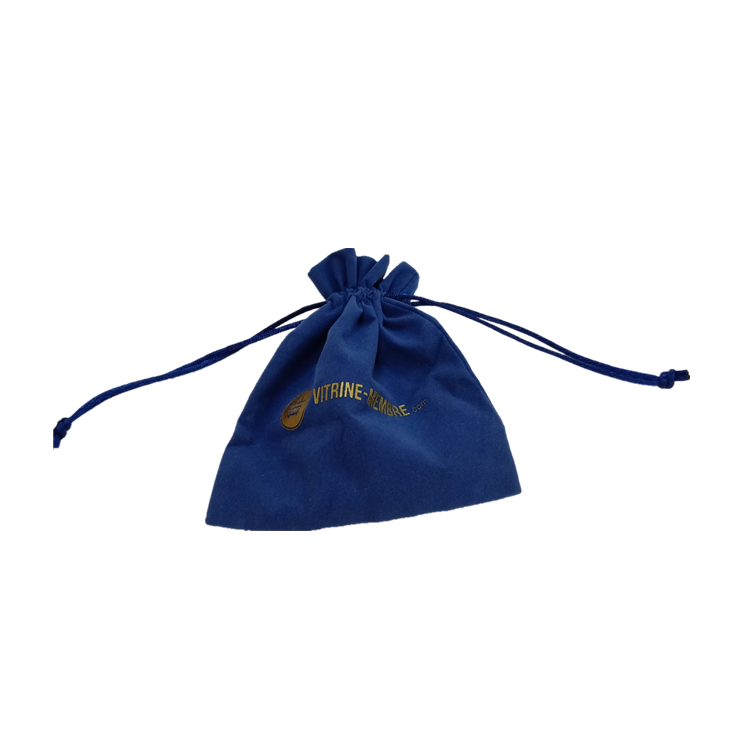 Promotional gift jewelry blue vevlet pouches