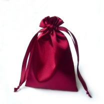 Factory wholesale satin bag with drawstring slik pouch
