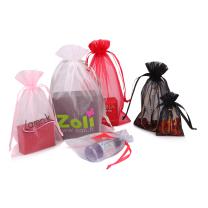 organza sachet bags custom pink organza pouch bag with logo print