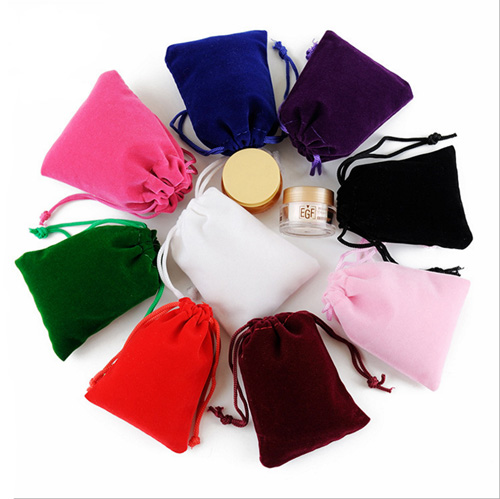 What material is used for custom velvet bags?