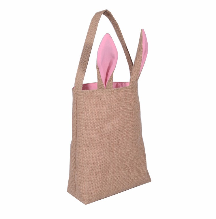 High quality natural tote jute bag with logo