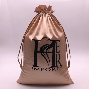 screen printing logo satin bag drawstring silk bag