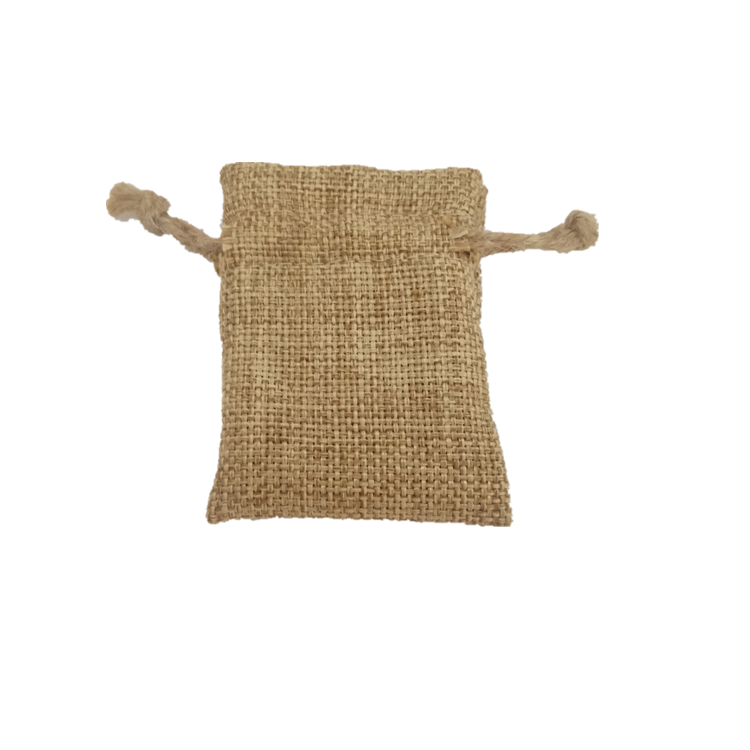 Nature color concise high quality eco-friendly custom drawstring jute tea bag