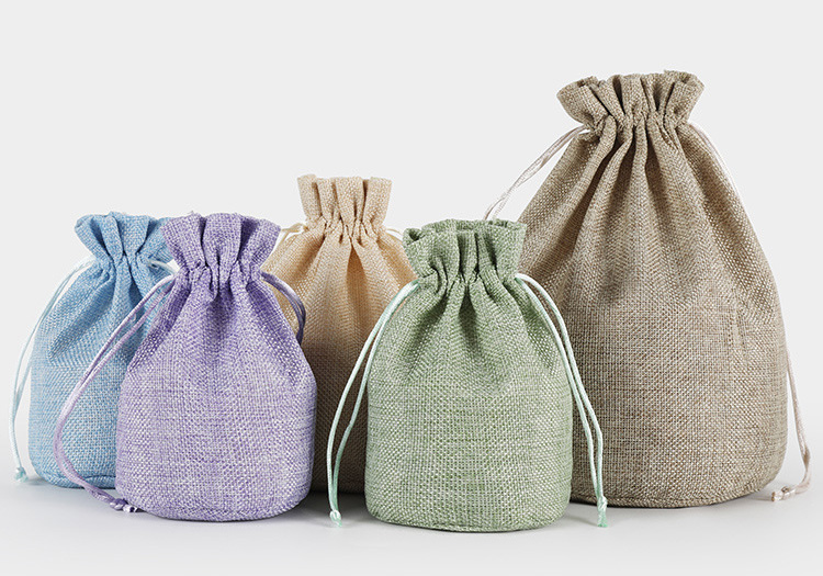 Factory Price Wholesale Custom Gifts Jewelry Linen bags Cheap Small Jute Bag