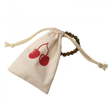 Drawstring jewelry cotton custom printed logo muslin pouches