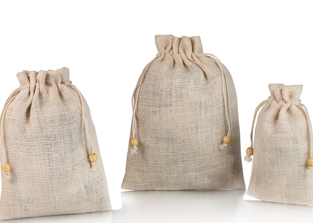 How to wash jute drawstring bags?