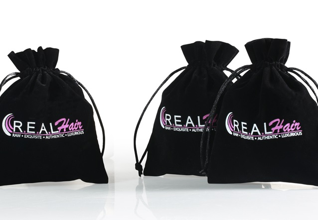 What are the common materials for custom drawstring bags?