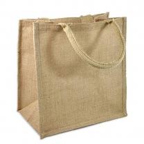 Jute Drawstring Tote Bag With Logo Printed