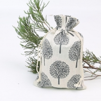 High quality custom logo linen bag with drawstring