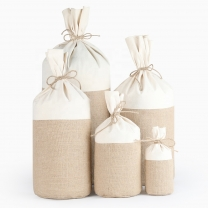 Wholesale Custom Small Cotton Linen Fabric Gift Bags
