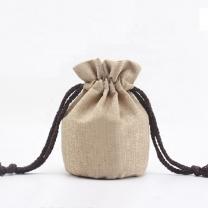 Eco-friendly Customized Logo Linen Jute Burlap Cotton Pouch