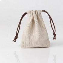 Jute Bags High quality tableware herringbone linen drawstring bag