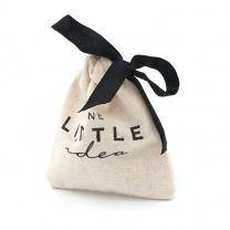 Natural white cotton muslin drawstring bags