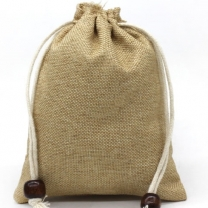 Jewelry Gift Drawstring Bags Wedding favor linen pouch