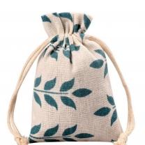 small burlap drawstring hessian mini gift jute pouch dust bag