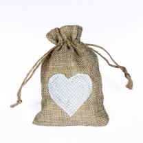 Suede Recyclable Jute Linen Drawstring Jewelry Gift Cotten Bag