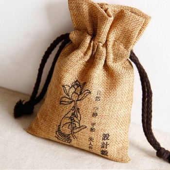Promotional Jute Pouches bag drawstring for Jewelry packing