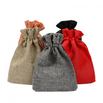 Eco-friendly Promotional Small Jute Bag Drawstring Gift Pouch