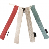 linen bamboo straw bag linen jute pen soap gift drawstring pouch for sales