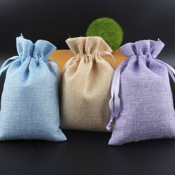 Manufacture high quality small Jute Burlap Gift pouch