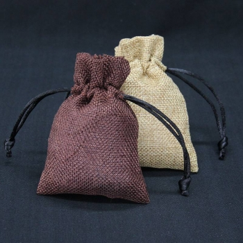 2020 latest gift burlap three color drawstring burlap bags