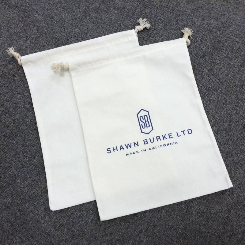 high quality cheaper custom recycled natural cotton bags drawstring