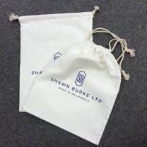 custom small recycled velvet /cotton drawstring jewelry bags