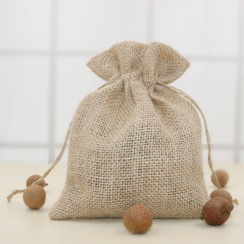 Wholesale Drawstring Bag Jute Bag for Cocoa and Coffee Beans Jute Pouch