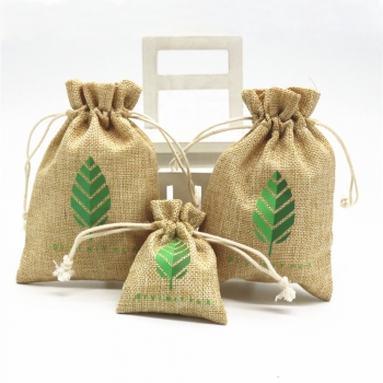 Natural Small Hemp Pouches Drawstring Jute Wholesale For Jewelry