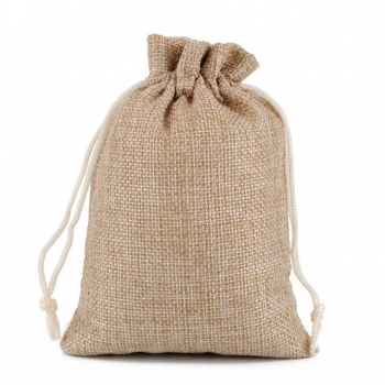 Promotional Cheap Natural Burlap Hessian Muslin Mini Small Large Jewellery Gift Pouch