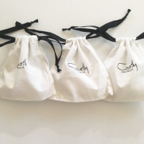 Customized gift cotton pouches drawstring wedding small bags