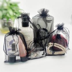 organza gift bag black Drawstring Organza Bags small Pouches Jewelry display Packaging yarn Gift Bag