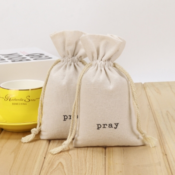 Wholesale customized cotton bag with drawstring velvet pouch