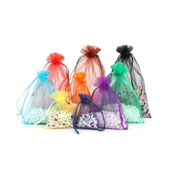 Custom Jewelry Bag Wedding Gift Organza bag Jewelry Packaging Silk Organza Pouch Bag