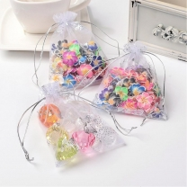 White Color Organza Pouches Jewelry Packaging Bags 10cm x12cm