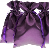 wholesael best price satin bag with custom logo