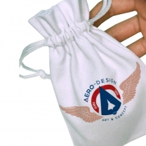 Newsest design small cotton pouch drawstring gift jewelry bag