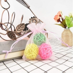 Organza Sheer Gauze Element Jewelry Bags Packing Drawable Organza Bags Wedding Christmas Organza Gift Bag