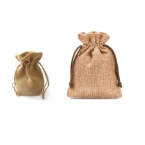 High quality Custom Logo printed linen pouch jute Burlap