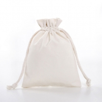 Cotton Canvas Linen Produce Drawstring Shoe Dust Pouch Bag