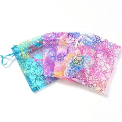 Sheer Coralline Organza Jewelry Pouch Small Organza Bag Jewelry Packaging Bags
