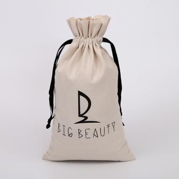lightweight cotton linen drawstring storage gift bag
